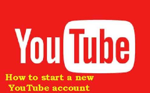 How to start a new YouTube account