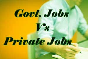 Private job vs govt job