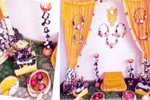Haldi ceremony decoration