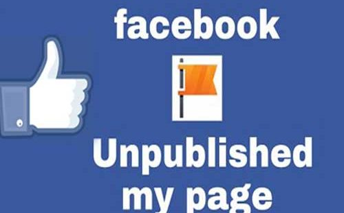 Facebook web page unpublished automatically